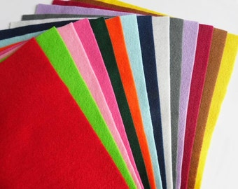 Felt sheets, pack 14 pieces, size 23x29cm