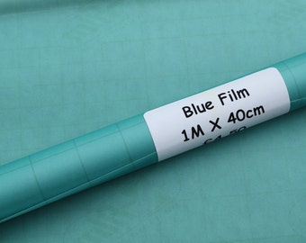 Blue Translucent Film for bobbin lace and needlelace patterns