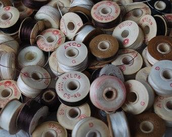 85 Star Disc Bobbins American Thread Company Vintage and Atco cardboard bobbins
