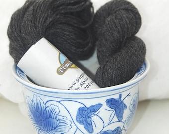 Charcoal gray alpaca/merino yarn