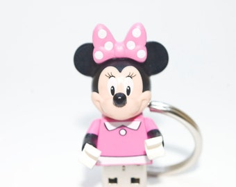 128GB Minnie Mouse USB Flash Drive with Key Chain