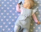 Hand Knitted 'Karter' Romper, Gender Neutral, NB to 2 years, Made to Order in 7 colours