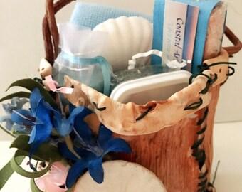 Seaside treasures sea kelp gift basket