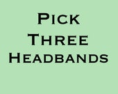 Pick 3 Headbands- Womens Wide Fabric Boho Headband