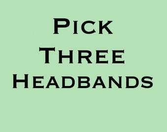 Pick 3 Headbands | Fabric Headband | Womens Headband | Wide Headband | Boho Headband | Cotton Headband | Yoga Headband | Holiday Gift Ideas