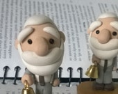 Ivan Pavlov with Bell Ooak Polymer Clay Sculpture Figurine Psychology Science Experiment Miniature Gift
