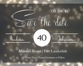 Save The Date - Birthday - Wedding