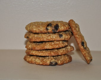 12  Oatmeal Coconut  Raisins Cookies Made to order !Holiday Gift!