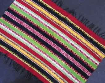 Handwoven Mexican Serape Style Table Runner