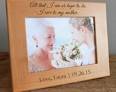 Personalized Mother of the Bride Picture Frame: Mother of the Bride Gift, Personalized Mother of Bride, Bride's Mom, SHIPS FAST