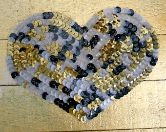Multi Colored Sequined Hearts