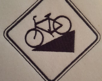 Bicycle Downhill Digital Embroidery Design