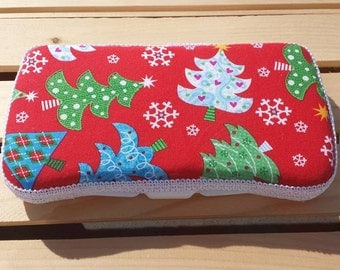Baby Wipes Case, Travel Wipes Case Christmas Tree Print