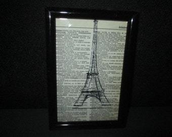 Paris Eiffel Tower Print. Eiffel Tower decor