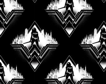 Camelot - Batman V Superman - Black Wonder Woman Silhouette