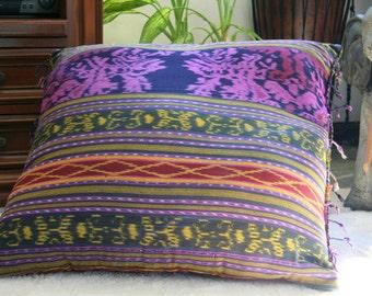 Berry Ikat Pillows, 16 Inch Throw Pillows Hand Woven Boho Pillows, Ethnic Cushions Free Worldwide Shipping