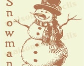 Euro Stencil Design ... Snowman Hand drawn 12x12 inch stencil used for burlap pillows, bedding, sign chalk painting