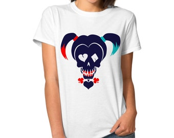 Harley Quinn SKULL Cosplay Shirt - Daddy's Lil Monster - Harley Quinn Shirt Costume  Shirt - Suicide Squad Tshirt Daddys Lil Monster