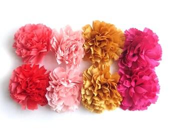 WHOLESALE LOT - 8 Fabric Flowers