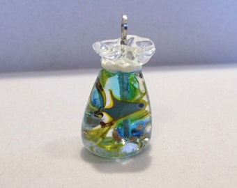 Glass Fish-in-a-bag - Blue and Yellow Fish