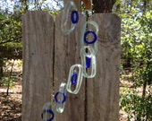 Glass Wind Chimes from RECYCLED BACARDI bottles, eco friendly ,green, wind chime, garden decor, wind chimes, musical, home decor, mobile