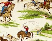 Cowboys, Rodeo Fabric, Roping Fabric, Ride Em Cowboy By Robert Kaufman, 145524