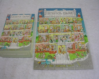Vintage Mini Springbok Jigsaw Puzzle School Daze 100+ PCS Complete