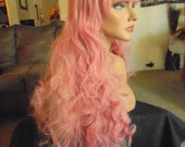 SPRING SALE - Soft Pink Hair - Hair Piece - Approx. 27 Inches - Cosplay - Emo - Rockabilly - Durable - Daily Wear - Priority Mail