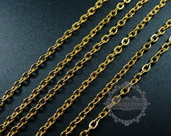 3pcs 23inch 3mm gold plated 316L stainless steel necklace chain DIY jewelry supplies 1325008