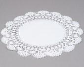 """50 - 12"""" WHITE  Paper Lace Doilies   - Wedding Decor, Bridal Shower, Baby Shower, Scrapbooking, Large Doilies, DIY Bride"""