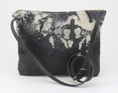 Cross body Bag with Pockets Hand dyed