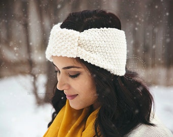 Pebble chunky knit Headwrap adult size Choose from 9 colors