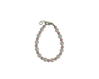 Iridescent and Pink Pearl Bracelet (BBGM)