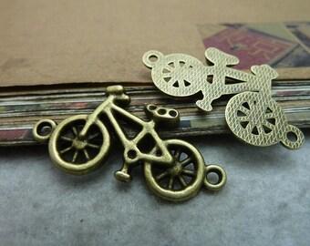 20pcs 20*38mm antique bronze bicycle bike charms pendant C7425