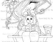 INSTANT DOWMLOAD Digital Digi Stamps Big Eye Big Head Dolls Digi Img051  New Fluffy Besties Tm  By Sherri Baldy