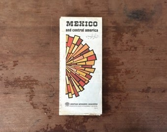 Vintage Mexico and Central America Map, AAA 1978-79 Edition