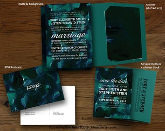 TORY (Abstract Art) Invitation Suite Printables