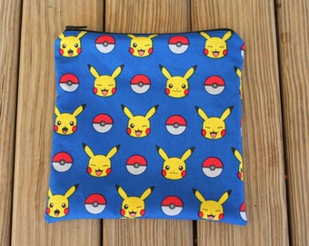 Reusable Sandwich Bag, Pokemon - ZIPPER Sandwich Bag