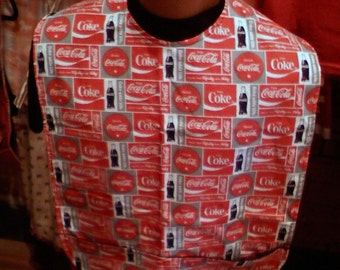 Adult Clothing Proctor Coke-Cola, Black Flannel lining with crumb catcher