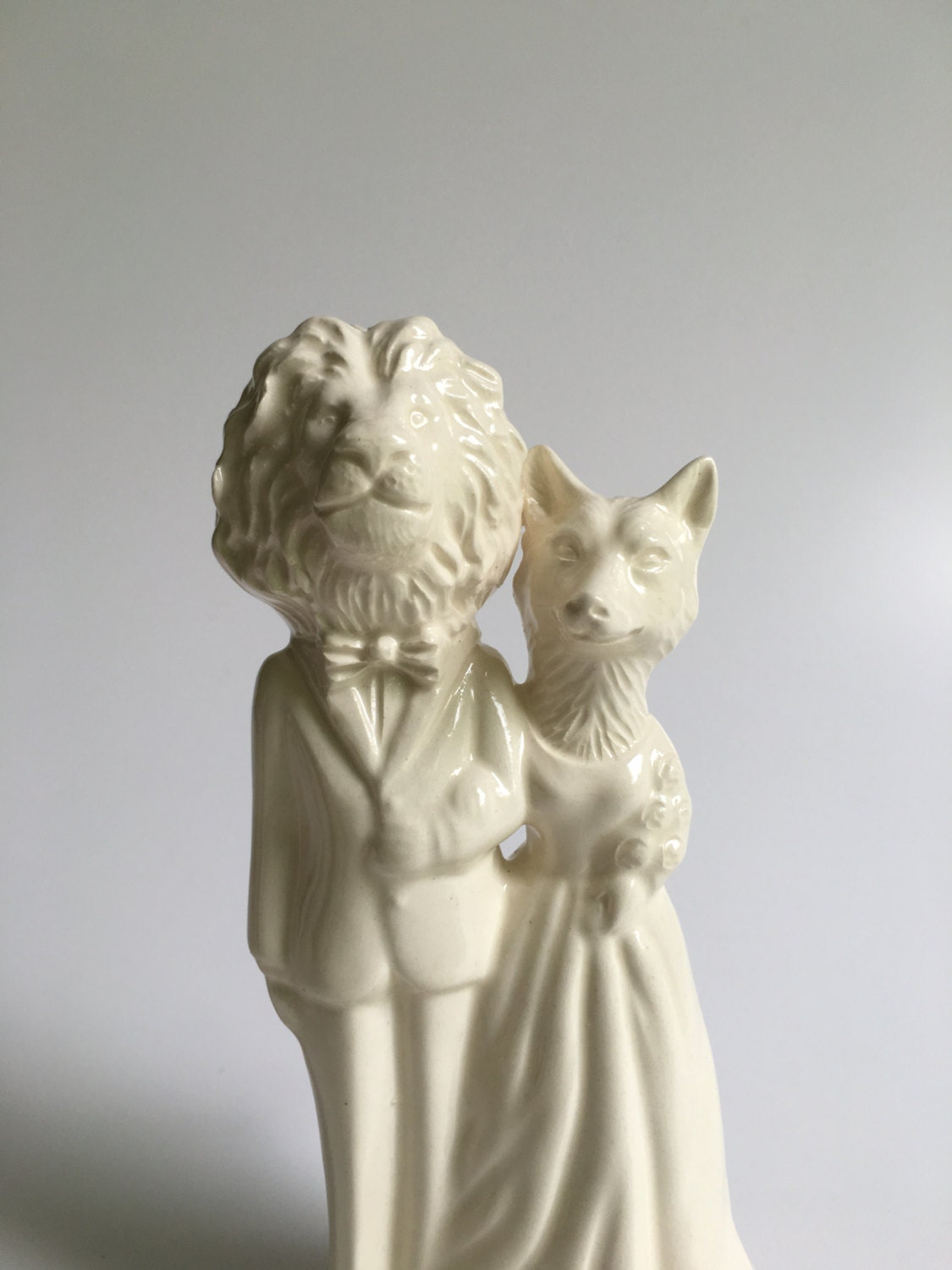 Lion and Fox Handmade Wedding Cake Topper