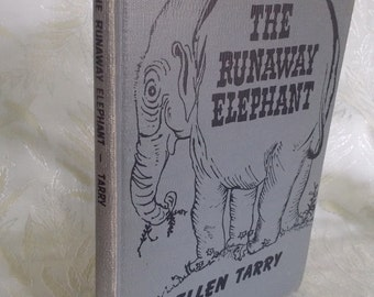 "Vintage book ""The Runaway Elephant"" by Ellen Tarry"
