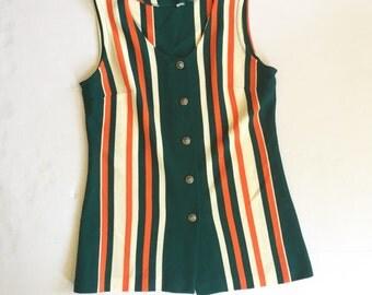 Ladies vintage striped tunic size large