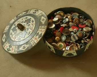 2 Pounds of Vintage Buttons, Grandma's Buttons, Vintage Lot of Sewing Supplies, Crafts, Projects