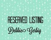 Custom lisitng for Deddiegerbig