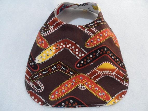 Handmade Baby Gifts Australia : Baby bibs australian aboriginal prints bib handmade