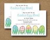 Easter Egg Hunt Invitation   Printable Egg Hunt Invitation   Easter Egg Birthday Party   DIY PRINTABLE   Cute, Colorful Easter Egg Invite