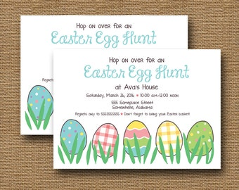 Easter Egg Hunt Invitation | Printable Easter Invite | Easter Egg Birthday | Cute, Colorful Easter Egg Party | Spring Party | DIY PRINTABLE