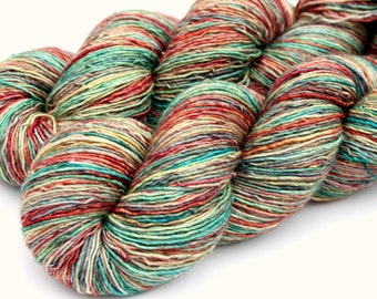 """Kettle Dyed Sock Yarn, Superwash Merino/Silk Fingering Weight, in """"Perfect Afternoon"""""""