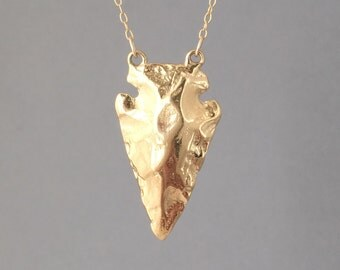 Double Connected Gold Arrowhead Necklace