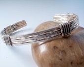 Silver Cuff Bracelet - Men's Bracelet